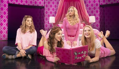 Danielle Wade, Megan Masako Haley, Mariah Rose Faith and Jonanyn Saxer perform during the musical, Mean Girls. The musical is based off of the 2004 film and premiered on Broadway in April 2018.