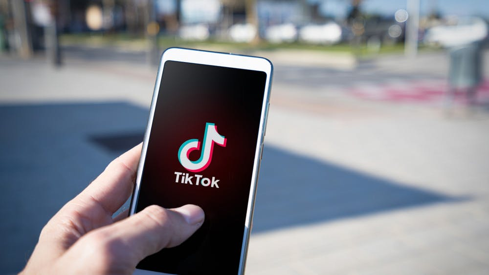 The app TikTok launches on a phone. For the past couple of months, there has been an influx of new movies and content creation, and Black artists are at the forefront.