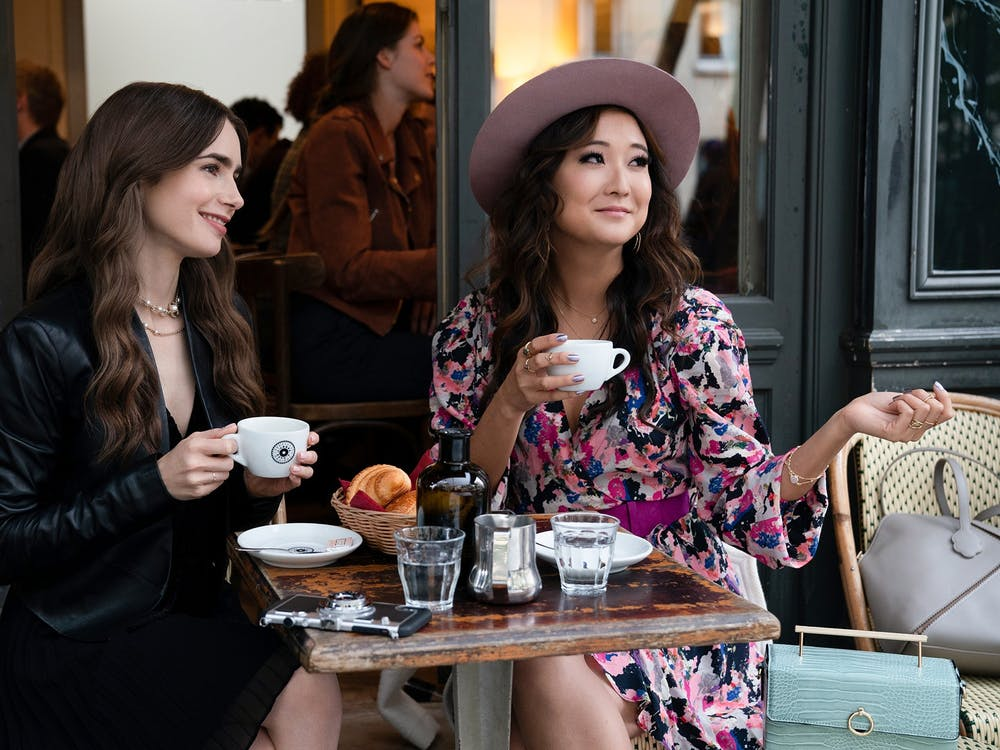 """Ashley Park and Lily Collins in """"Emily in Paris."""""""