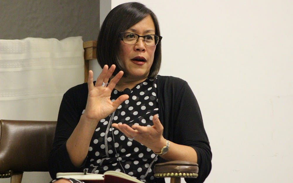 Author of Body Language: Sisters in Shape, Black Women's Fitness and Feminist Identity Politics, Kimberly Lau speaks about the intersections of beauty, race and feminism. This talk took place in the Folklore and Ethnomusicology building on Thursday evening.