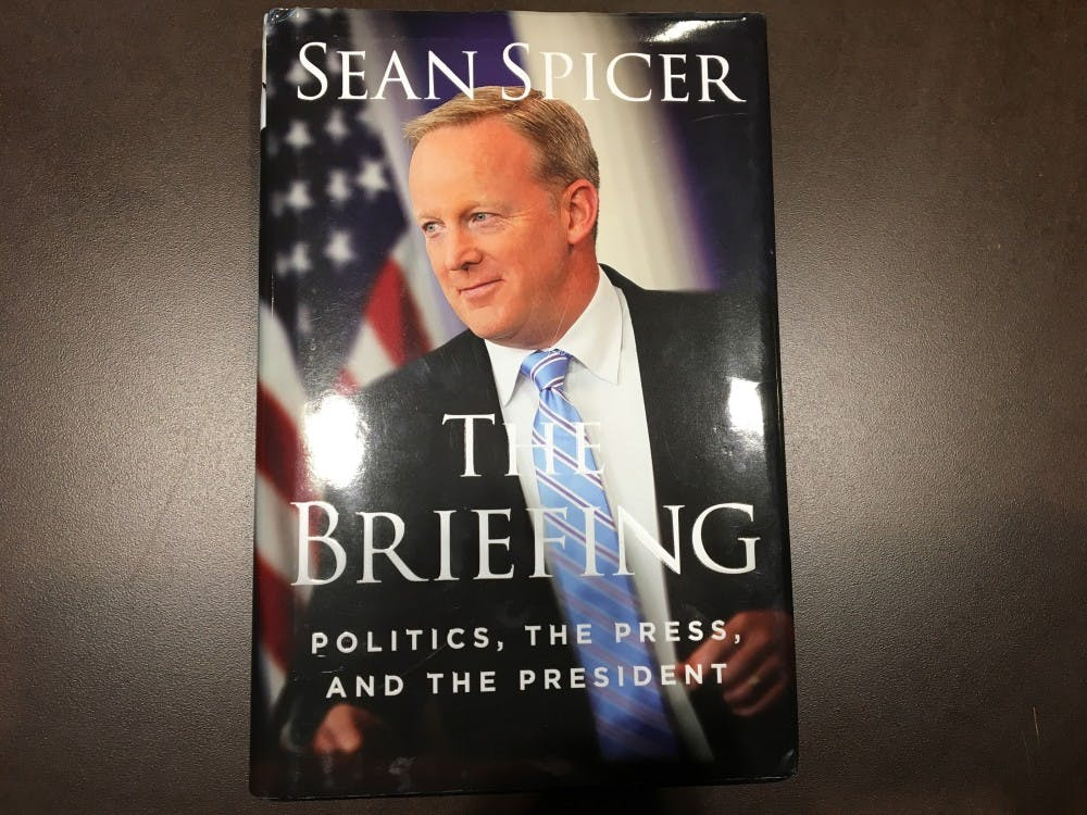 """Sean Spicer's autobiography """"The Briefing: Politics, the Press, and the President"""" was released in July."""