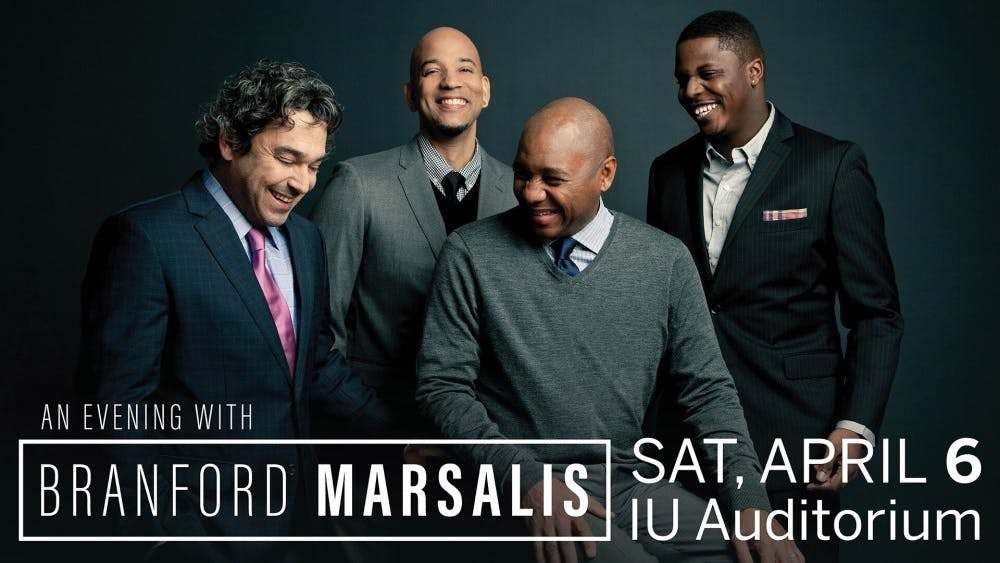 "The Branford Marsalis Quartet will perform in ""An Evening with Branford Marsalis"" at 8 p.m. March 6 at the IU Auditorium."