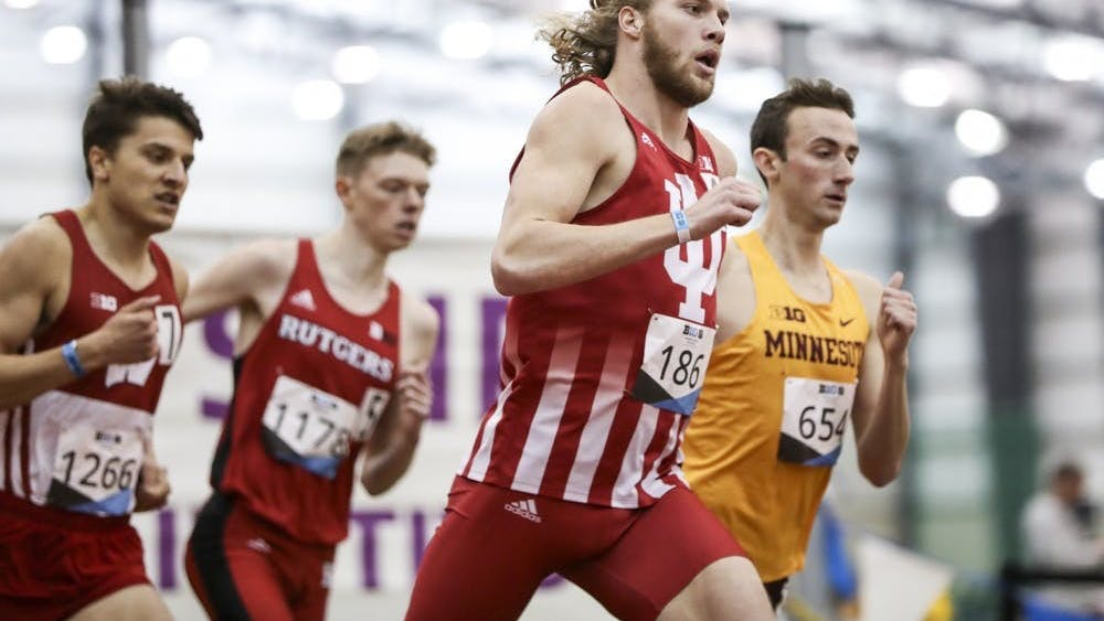 Then-junior Cooper Williams competes in the 800-meter race during the Big Ten Indoor Championships on Feb. 28-29, 2020, at the SPIRE Institute in Geneva, Ohio. The Hoosiers competed in the B1G North Florida Invitational this weekend.