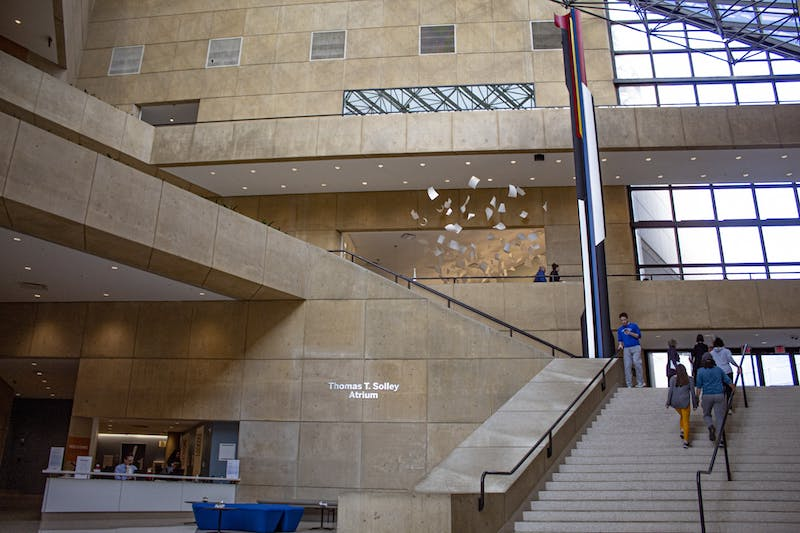 The lobby for the Eskenazi Museum of Art is seen Dec. 6. The museum was the site of the December First Thursday event.