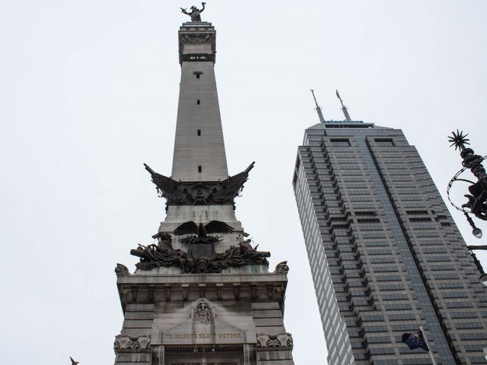The Soldiers and Sailors Monument is a momument located in Memorial Circle in Indianapolis.