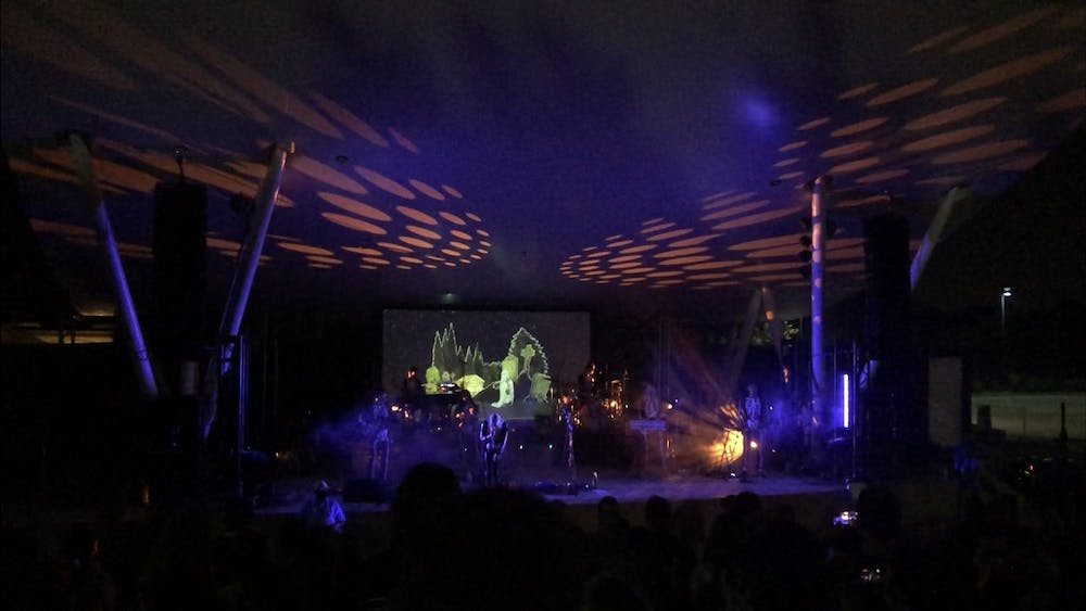 """Phoebe Bridgers performs """"Halloween"""" at Chesterfield Amphitheater on Sept. 3, 2021, near St. Louis. The show lasted a little over an hour."""