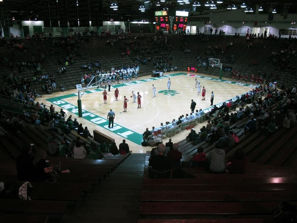 The New Castle High School Trojans play the Anderson High School Indians at the New Castle Fieldhouse, the world's largest high school gym. The gym has a seating capacity of over 9000, but only 1337 fans showed up for the game against Anderson last Friday.