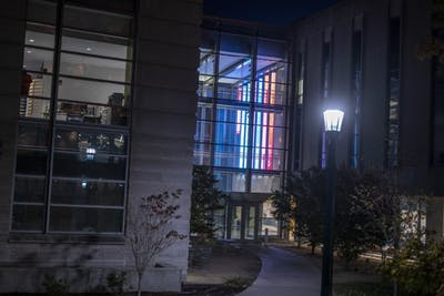 The Global and International Studies Building is located on North Jordan Avenue. The Center for the Study of the Middle East issued an apology Wednesday after an an alleged anti-Semitic image that was included in its newsletter.