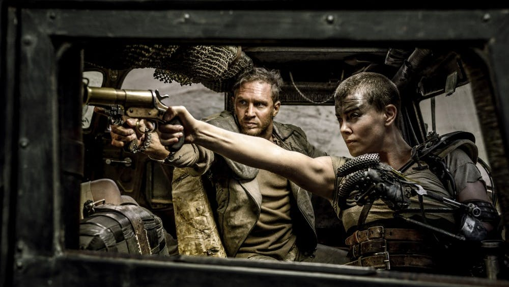"Tom Hardy and Charlize Theron star in the film ""Mad Max: Fury Road."" (Warner Bros. Pictures)"