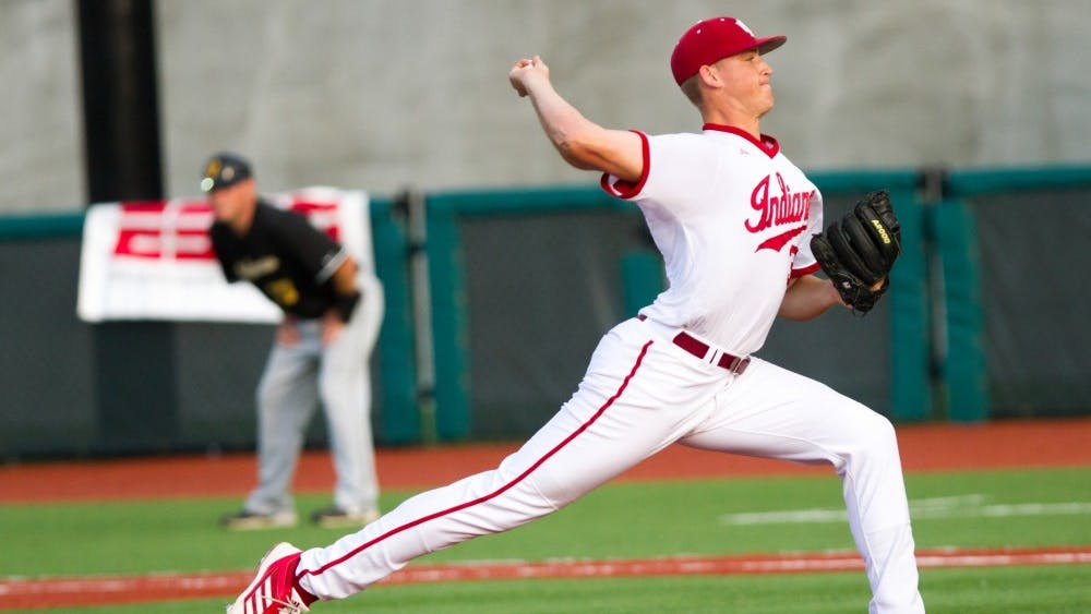 Then-sophomore Aaron Slegers pitches against Valparaiso during a game May 31, 2013, at Bart Kaufman Field. Slegers is currently playing professionally with the Tampa Bay Rays.