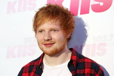 Ed Sheeran arrives to 102.7 KIIS FM's 2014 Wango Tango in Los Angeles, May 10, 2014. (Krista Kennell/Abaca Press/MCT)