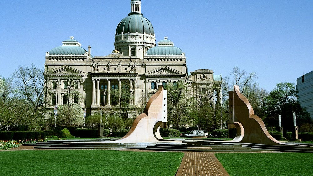 The Indiana Statehouse is located in downtown Indianapolis. The Indiana General Assembly will adjourn April 29.