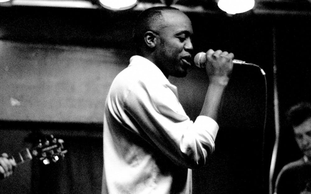 <p>Durand Jones came to Bloomington with the goal of learning the saxophone and left a proud member of the IU Soul Revue. He now sings across the country and will visit Bloomington on Sunday to perform at the Bishop Bar.</p>