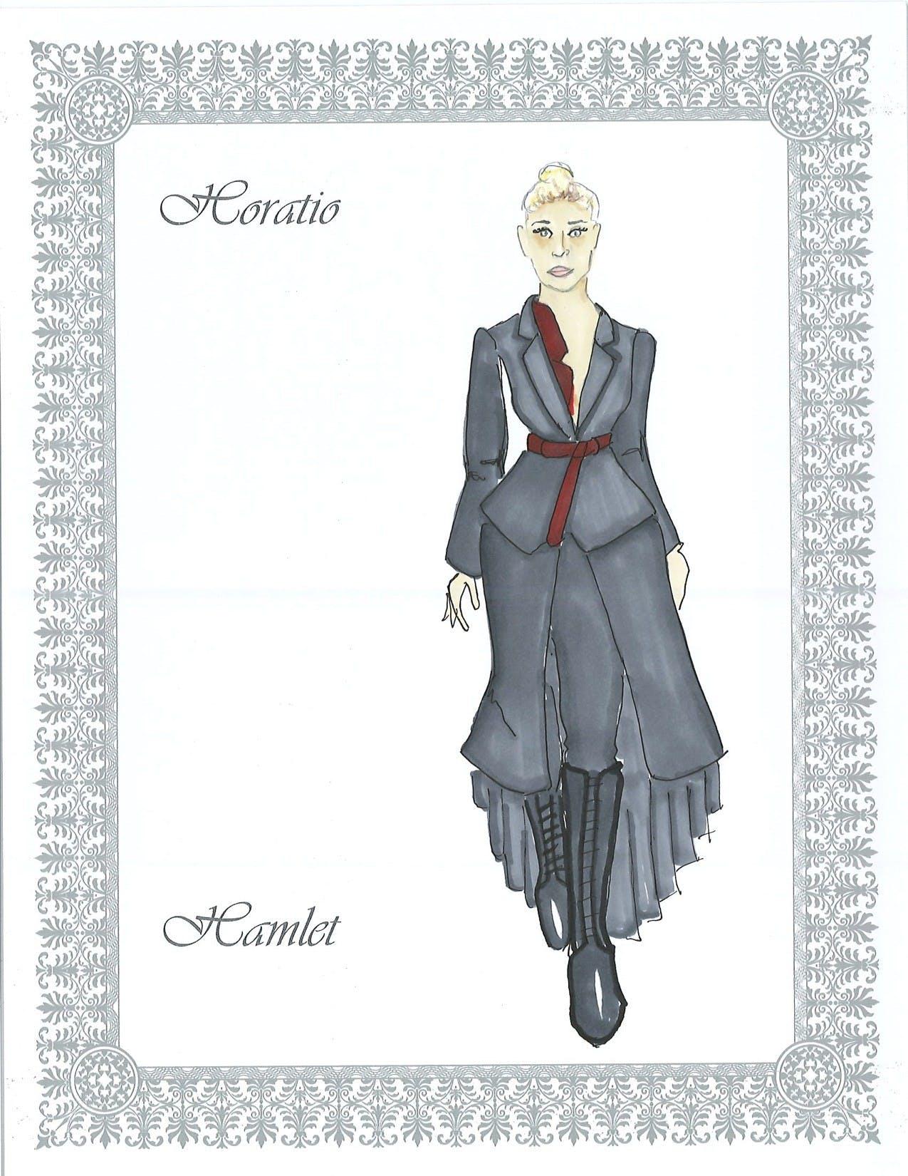 Horatio costume design