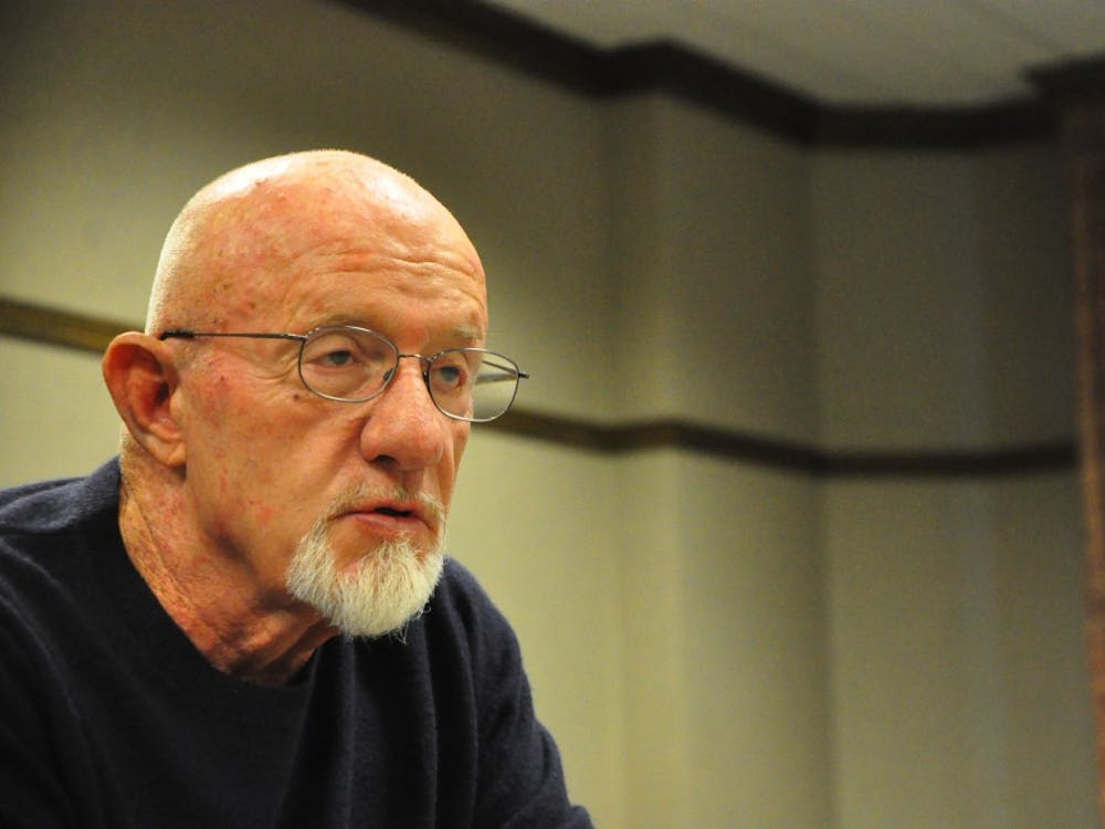 Jonathan Banks describes his experience in IU during an interview yesterday in the IMU.