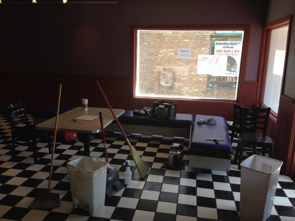 The interior of the Village Deli as it undergoes reconstruction.