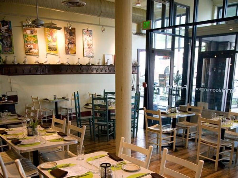 Farm Restaurant sits on Kirkwood Avenue in the heart of downtown Bloomington. The restaraunt prides itself on using local, seasonal ingredients.