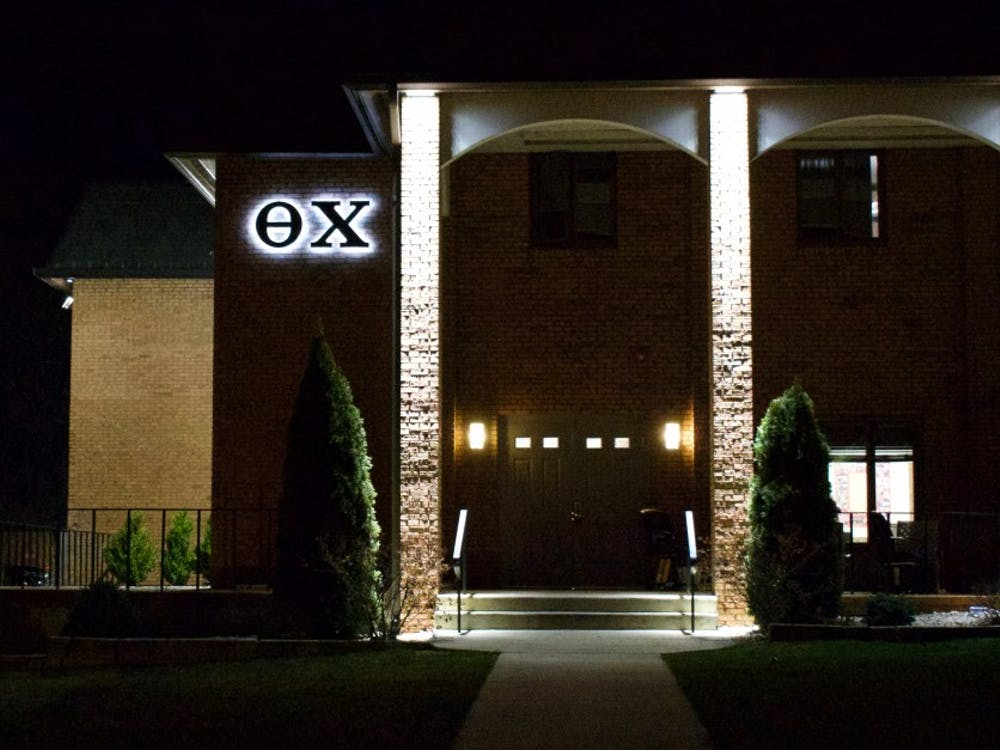 The Alpha Iota chapter of Theta Chi is located at 1440 N. Jordan Ave. A man wearing a red Theta Chi jersey and a bewildered look walked up to IUPD Lt. Nick Lewis' patrol car last Thursday and asked why the cops were there as Lewis drove through the fraternity's parking lot.