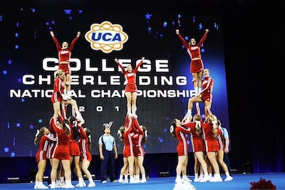 The IU Crimson all-girl cheerleading team was crowned national champions at the 2019 UCA & UDA College Cheerleading and Dance Team National Championship. In 2020, the team did not advance to the final round after four falls.