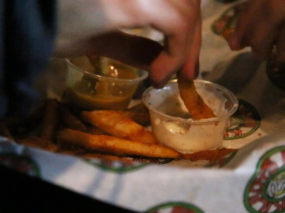 A french fry crawl hit Bloomington bars on Wednesday in search for the best fries in town. The event was organized by senior Mackenzie Shimokaji.