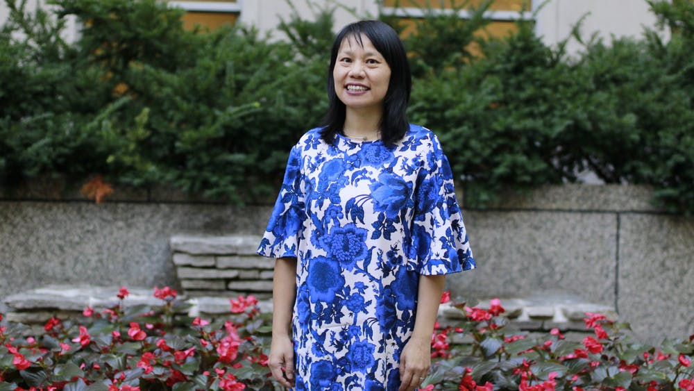 IU associate history professor Ellen Wu poses for a picture on Sept. 29, 2021, outside of Ballantine Hall. Wu was named a 2022 New America National Fellow on Sept. 21.