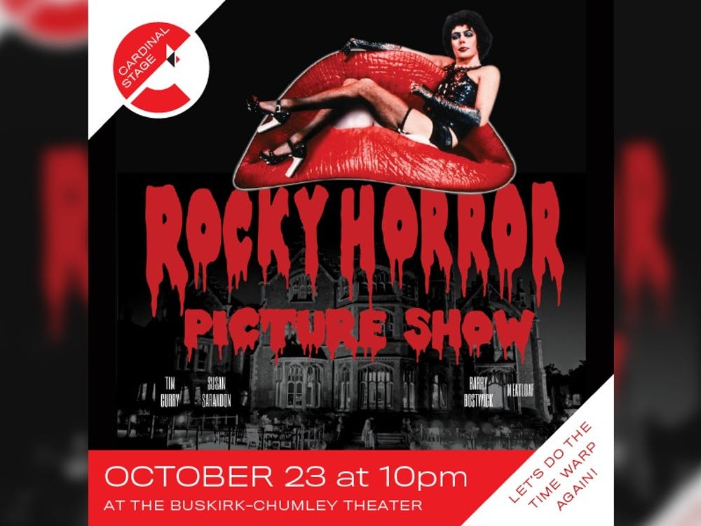 """Cardinal Stage will host its 16th annual screening of """"Rocky Horror Picture Show"""" at 10 p.m. on Oct. 23 in the Buskirk-Chumley Theater. Tickets will be sold for $15 in advance or $20 at the door."""