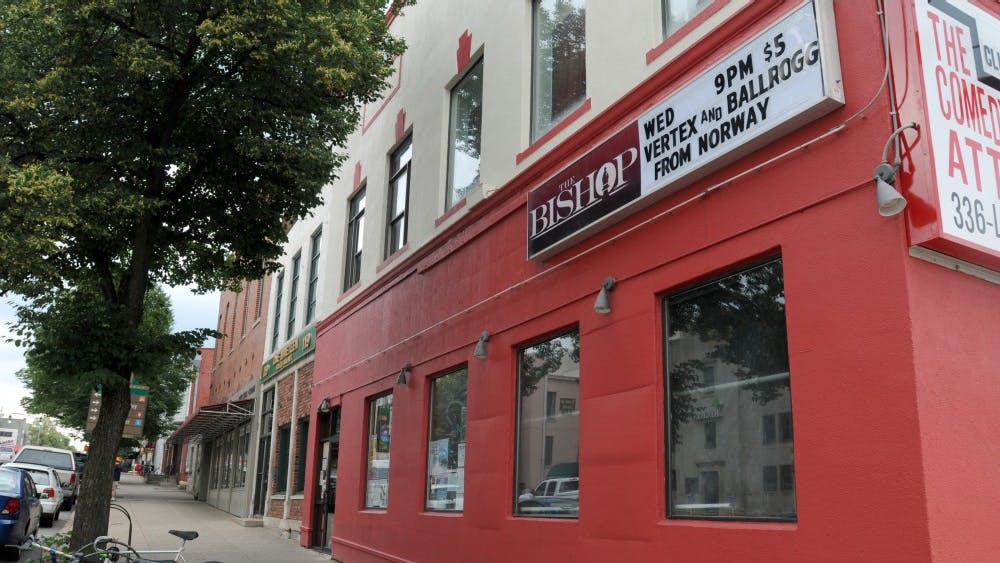 The Bishop Bar is located at 123 S. Walnut St.