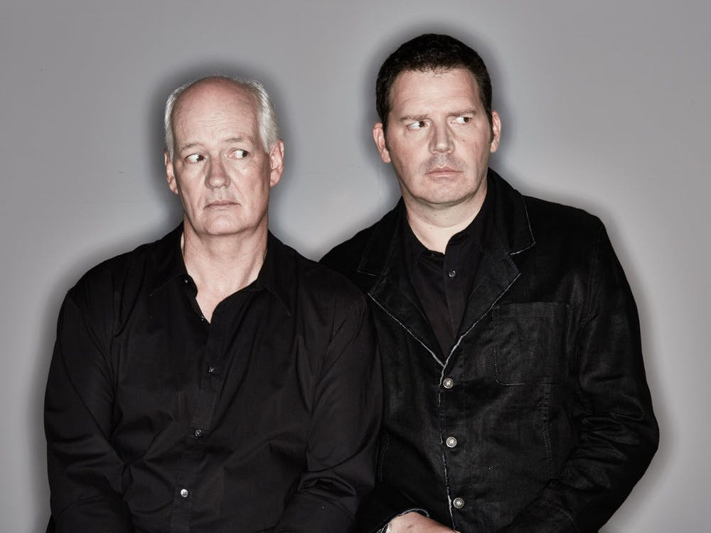 """Colin Mochrie and Brad Sherwood, stars of """"Whose Line is it Anyway?,"""" pose for a headshot. """"Stream of Consciousness,"""" a virtual live comedy sketch show starring Mochrie and Sherwood, will take place over Zoom on March 20 and 27 with improv sketches using audience suggestions."""