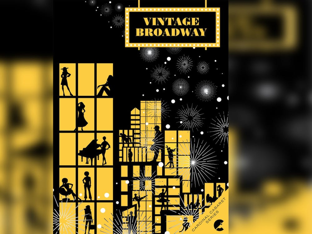 """The promotional poster for Cardinal Stage's """"Vintage Broadway Cabaret"""" appears. Performances of the show will be at 7:00 p.m. June 4-5 outdoors at the Hundredth Hill Artist Residence and Retreat in Bloomington."""
