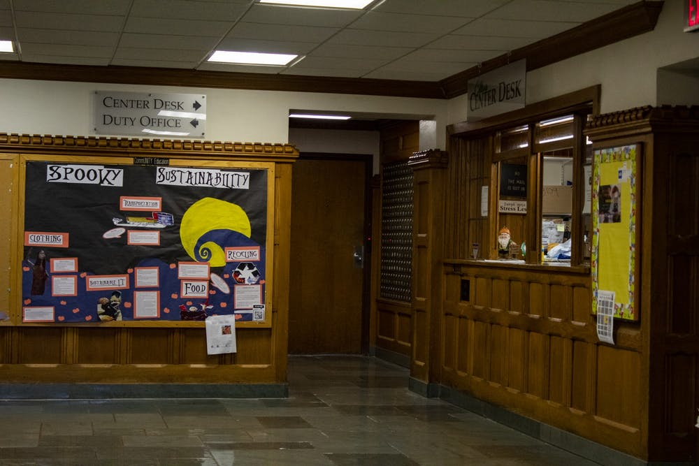 <p>The inside of Collins LLC is pictured. The IU Board of Trustees approved a $23 million renovation of Collins LLC for the second time during a virtual meeting Friday. </p>