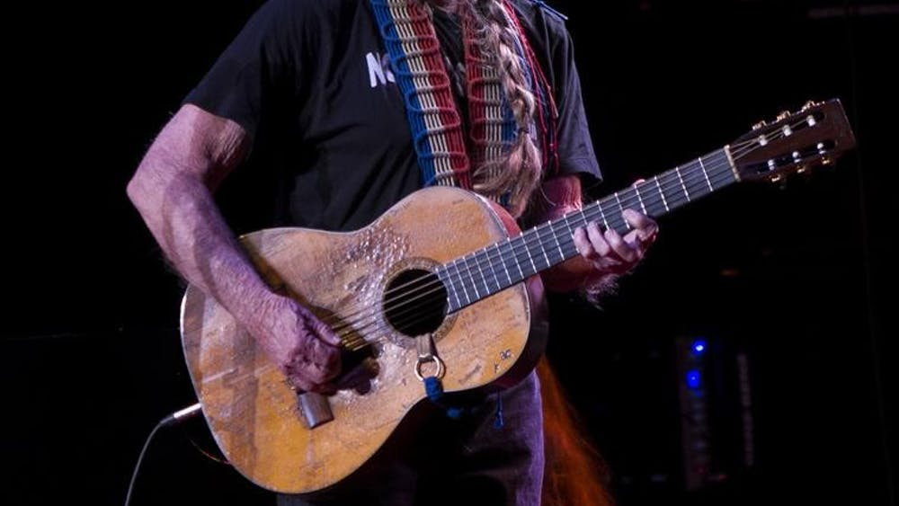Singer Willie Nelson performs at the IU Auditorium on Saturday evening in front of a nearly sold out audiance.