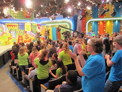 "Audience members for The Price is Right have fun during a commercial break. ""The Price is Right Live"" is coming to IU at 7:30 p.m. Feb. 21 at the IU Auditorium."