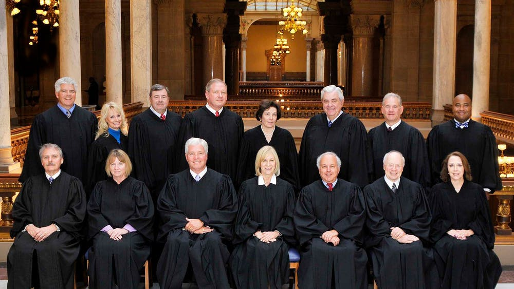 Judges on the Indiana Court of Appeals pose for a headshot in Feb. 2016 in Indianapolis. The court has a vacancy it is attempting to fill after Judge James S. Kirsch announced his retirement on Jan. 28.