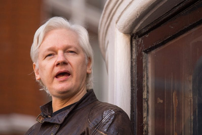 Julian Assange on May 19, 2017. A journalist reported Saturday that Ecuador is close to evicting Assange from the embassy in London, where he's been living for six years.