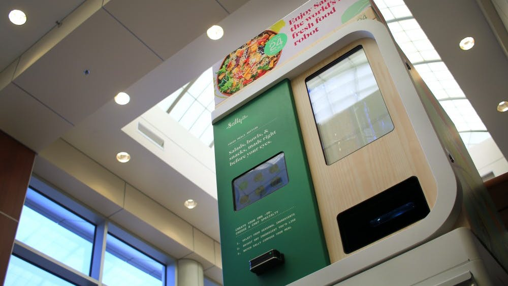 Sally the salad robot is the first fresh-food robot in the world to be in a hospital. People at IU Health Bloomington Hospital can have Sally make a custom salad for $6.99.