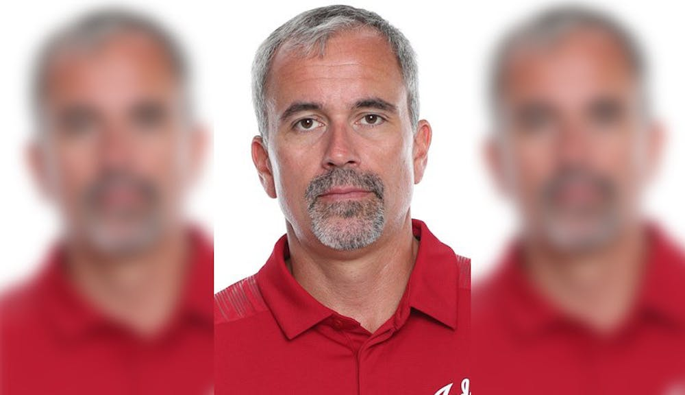 <p>IU swimming and diving associate head coach Mike Westphal was arrestedfor allegedly intimidating a former IU athlete who is now a local swim coach. </p>