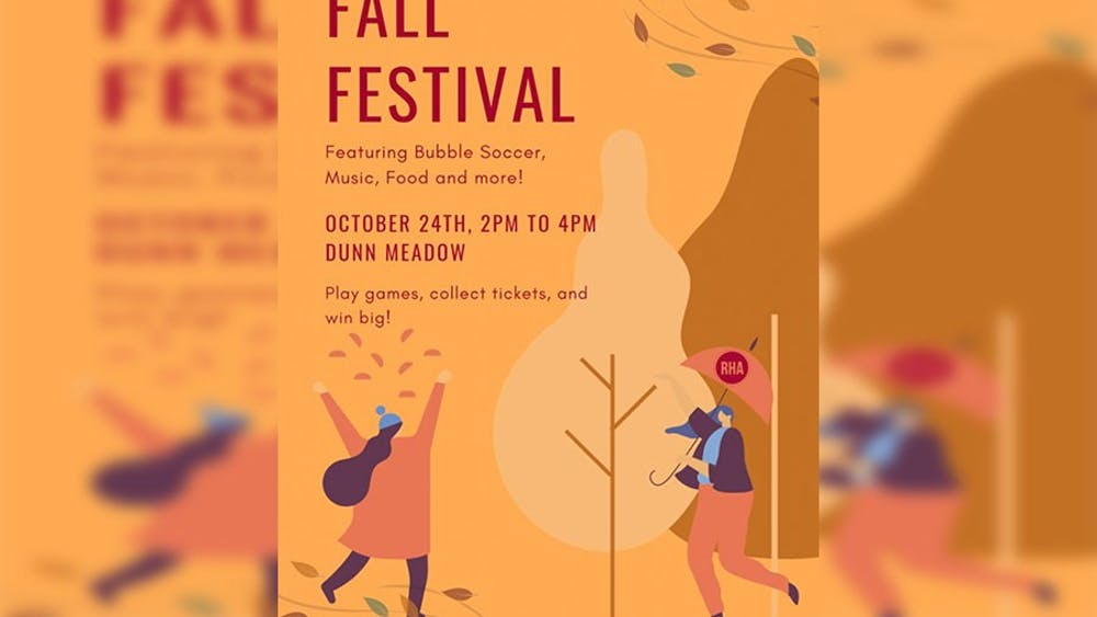 The IUB RHA twitter page posted a flyer detailing their plans for the Fall Festival which took place from 2 to 4 p.m. on Oct. 24, 2021, at Dunn Meadow. The festival welcomed six student organizations and gave on-campus residents a chance to explore club involvements and enjoy refreshments