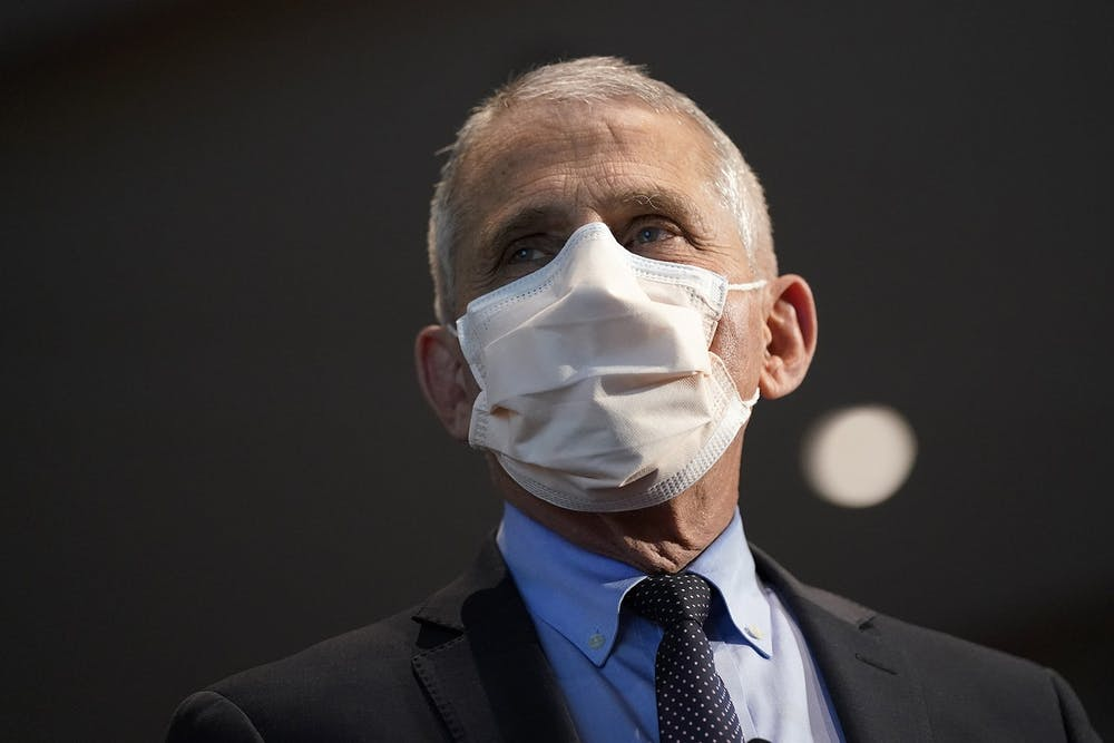 <p>Dr. Anthony Fauci, director of the National Institute of Allergy and Infectious Diseases, on Dec. 22, 2020, in Bethesda, Maryland. Fauci will receive the Ryan White Distinguished Leadership Award in December, according to a press release from the IU School of Public Health.</p>