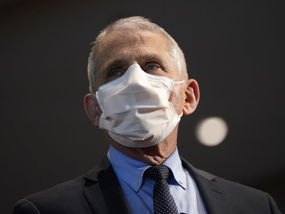 Dr. Anthony Fauci, director of the National Institute of Allergy and Infectious Diseases, on Dec. 22, 2020, in Bethesda, Maryland. Fauci will receive the Ryan White Distinguished Leadership Award in December, according to a press release from the IU School of Public Health.