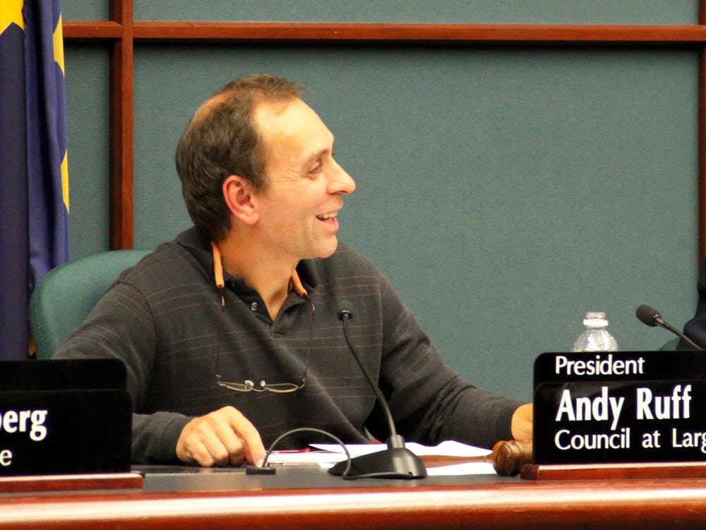 City Councilman Andy Ruff leads a city council meeting Nov. 3, 2016, at City Hall. Ruff announced yesterday he will run for Congress in Indiana's Ninth District.