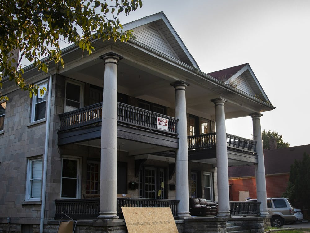 A duplex appears at 420 E. Sixth St. The Bloomington Plan Commission voted 5-4 Monday to allow duplexes to be developed in certain neighborhoods.
