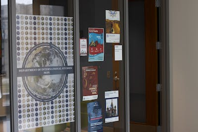 The outside of the Chinese Flagship Program's office is pictured Feb. 26 in the Global and International Studies Building. Flagship students are required to do a summer intensive language program, and program director Yea-Fen Chen said she encourages students to apply for the Taiwan program instead of the Beijing program due to the coronavirus outbreak.