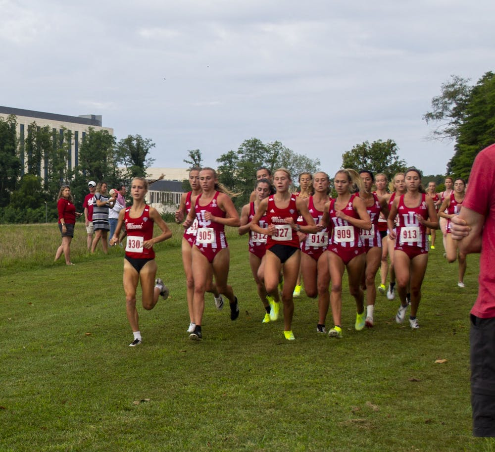 <p>IU women&#x27;s cross country competed against Miami University on September 4, 2021, at the IU Championship Cross Country Course. The women&#x27;s teams won its first meet of the season. </p>
