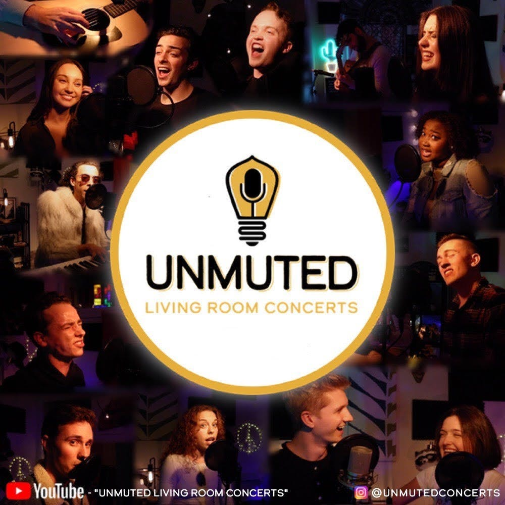 <p>IU students perform in the &quot;Unmuted Living Room Concerts&quot; series. A group of 12 seniors in the IU Musical Theatre program created the &quot;Unmuted Living Room Concerts.&quot; </p>