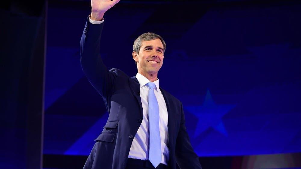 Beto O'Rourke, former Democratic presidential candidate and Texas representative, waves as he arrives onstage Sept. 12 during the third Democratic primary debate of the 2020 presidential campaign at Texas Southern University in Houston, Texas.