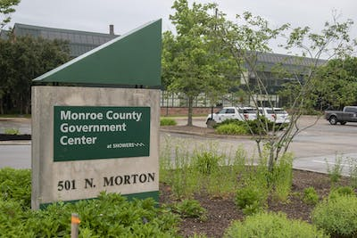 The Monroe County Government Center is located at 501 N. Morton St. The Monroe County Council will hold a town hall meeting in the near future to discuss new sheriff's deputy hires and the local justice system.