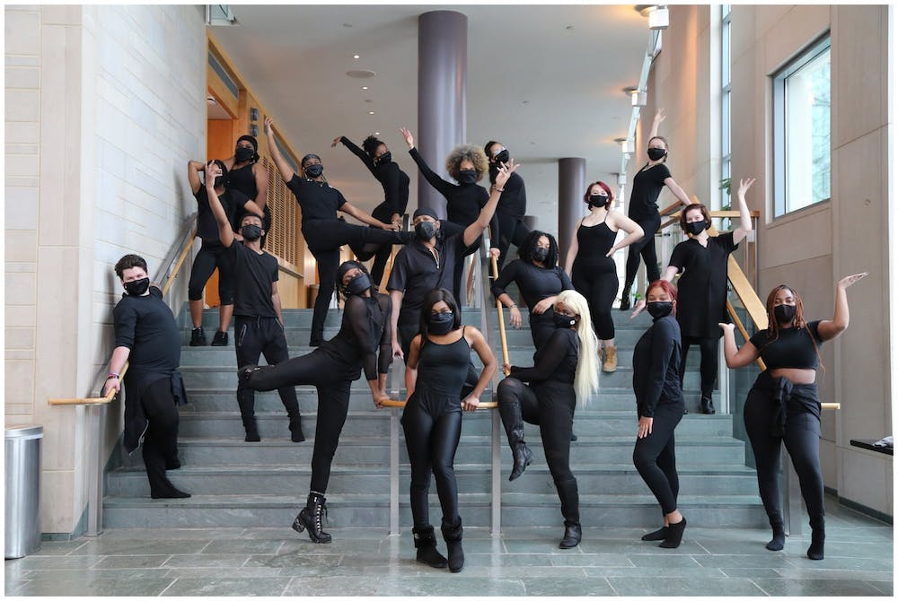 <p>The IU African American Dance Company poses for a promotional photo.  The AADC will livestream their 47th annual spring concert  Saturday.</p>