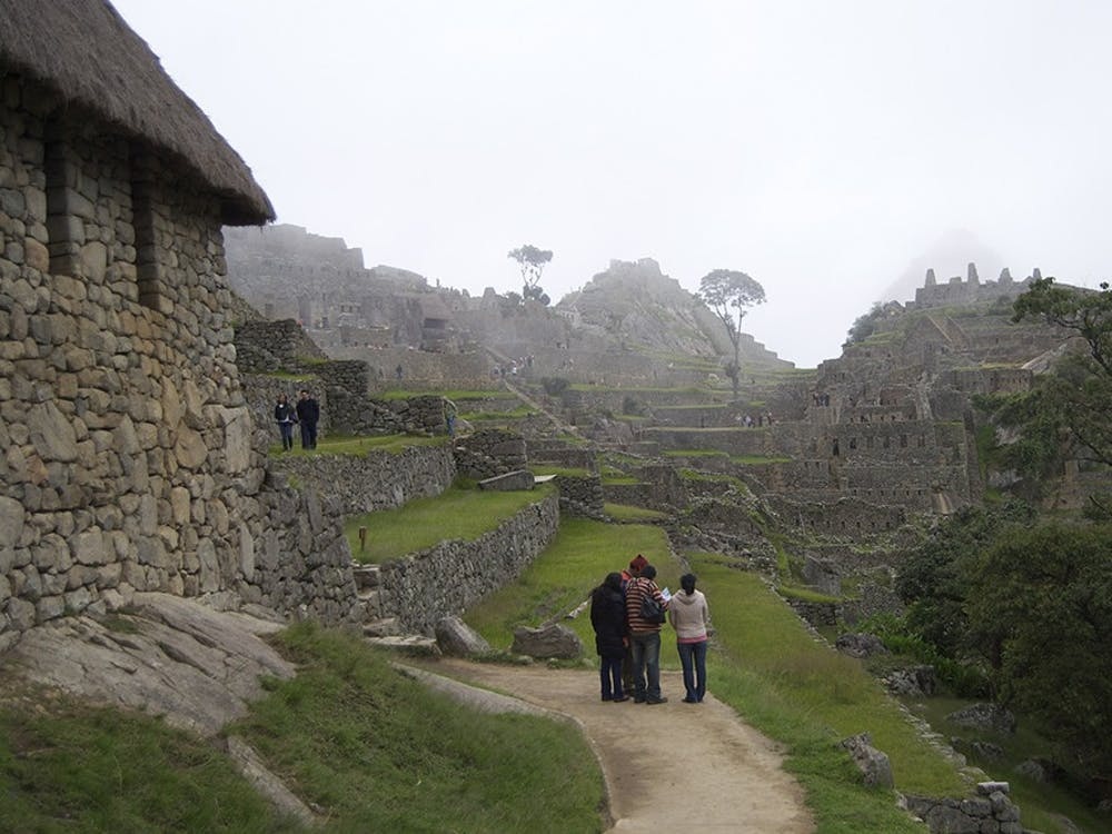 Visitors are allowed to walk around inside of Machu Picchu, where people can view the Sun Temple, agriculture fields, and other important aspects of Incan life while they lived in Machu Picchu.