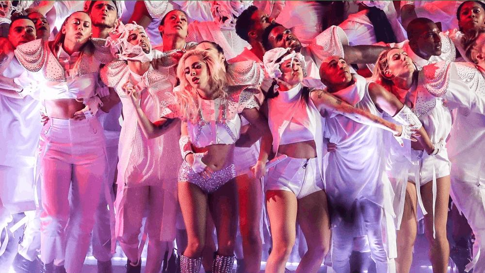 Lady Gaga performs during the half time show of Super Bowl LI on Sunday, Feb. 5, 2017 at the NRG Stadium in Houston, Texas. (Dan Wozniak/Zuma Press/TNS)