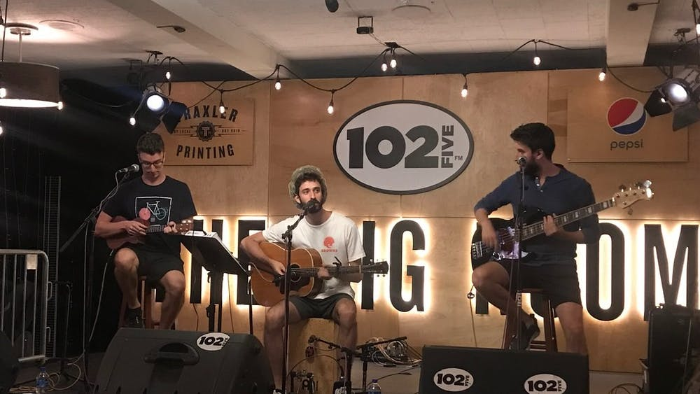 AJR performs July 25, 2019, at the CD102.5 Big Room Bar in Columbus, Ohio. The three members of the band are brothers who record, produce and mix everything in their living room.